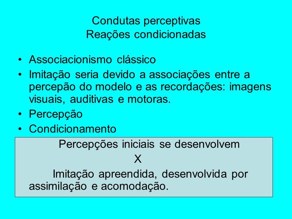 Condutas perceptivas Reações condicionadas