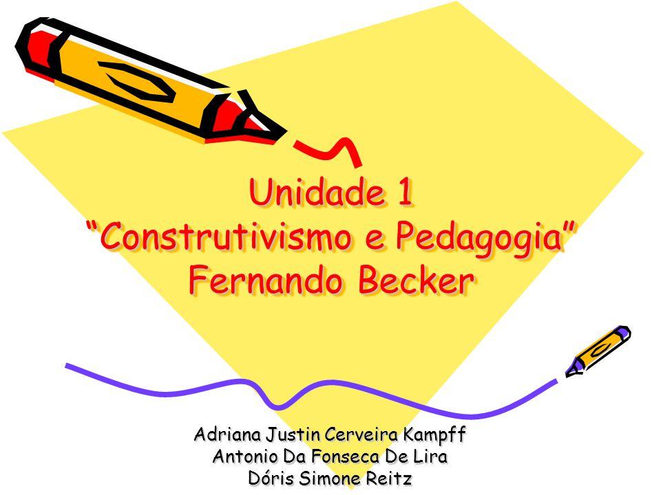 Unidade 1 Construtivismo e Pedagogia Fernando Becker