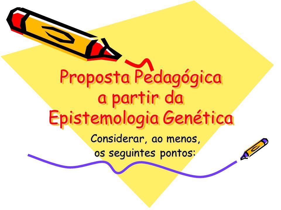 Proposta Pedagógica a partir da Epistemologia Genética
