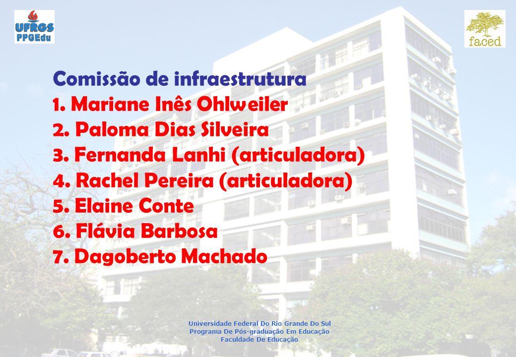Comissão de infraestrutura 1. Mariane Inês Ohlweiler