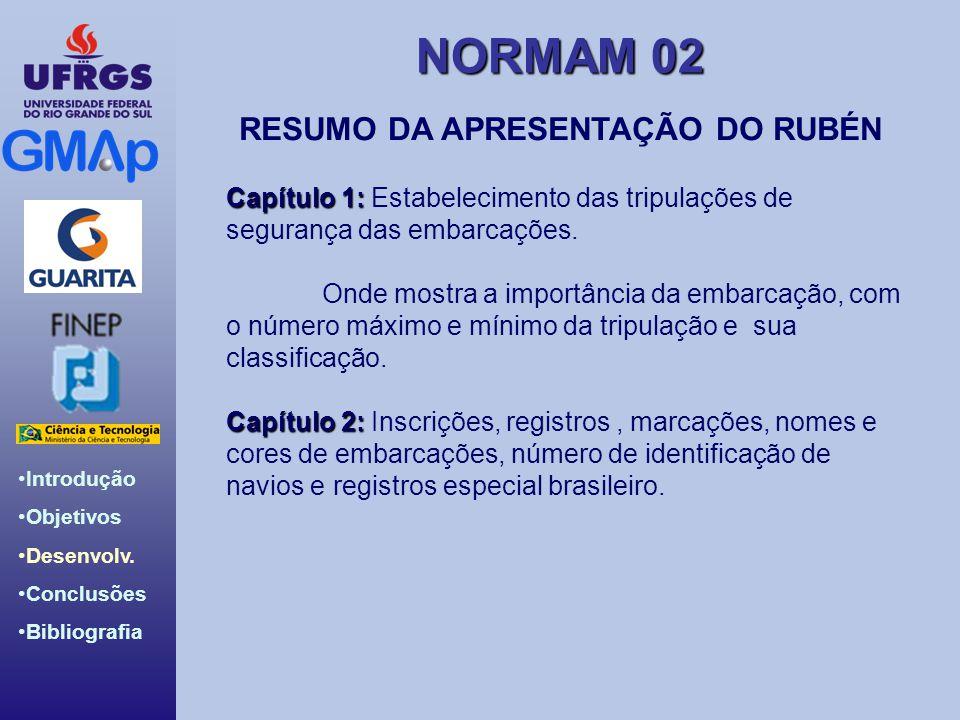 RESUMO DA APRESENTAÇÃO DO RUBÉN