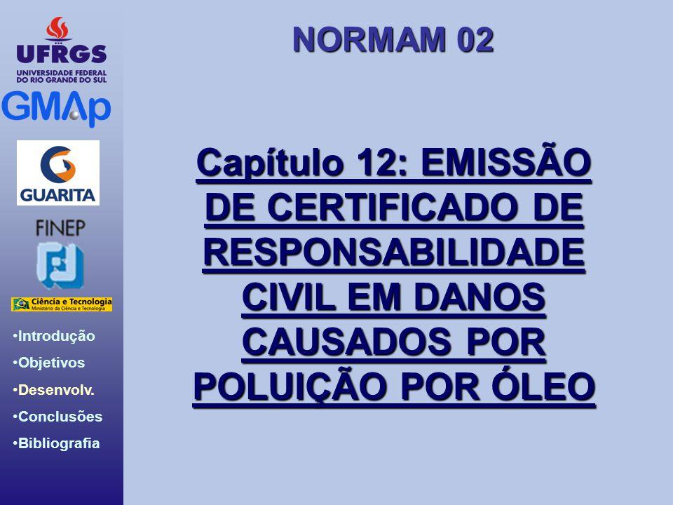 Capítulo 12: EMISSÃO DE CERTIFICADO DE RESPONSABILIDADE CIVIL EM DANOS CAUSADOS POR POLUIÇÃO POR ÓLEO