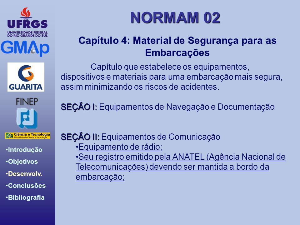 Capítulo 4: Material de Segurança para as Embarcações