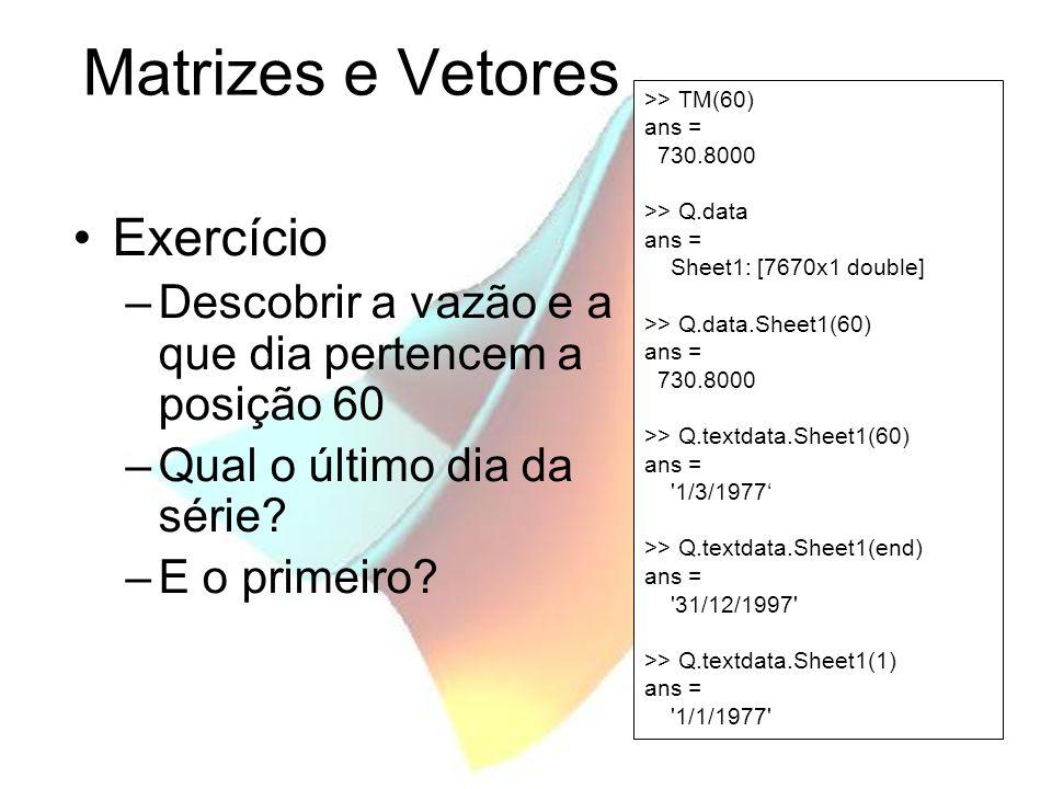 Matrizes e Vetores Exercício