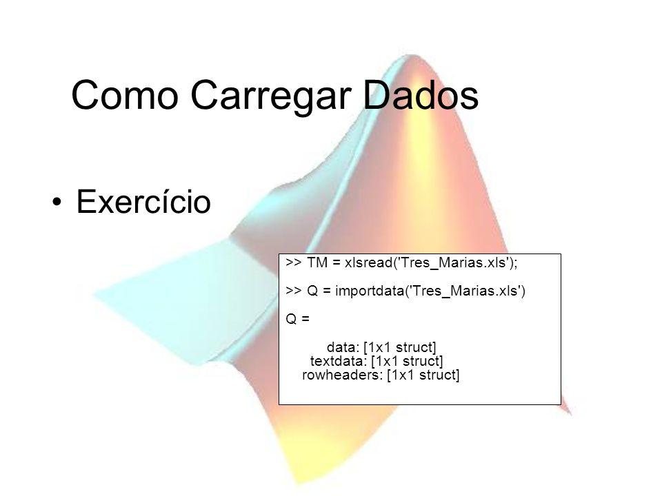 Como Carregar Dados Exercício