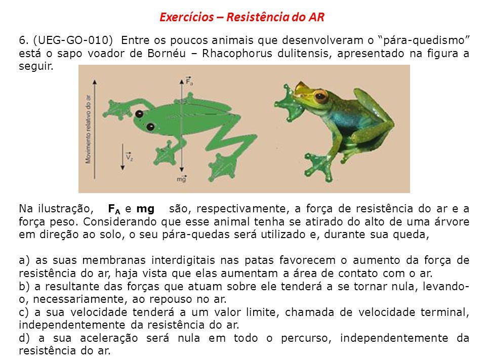 Exercícios – Resistência do AR