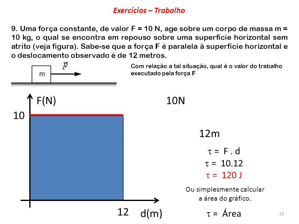 Ou simplesmente calcular a área do gráfico.
