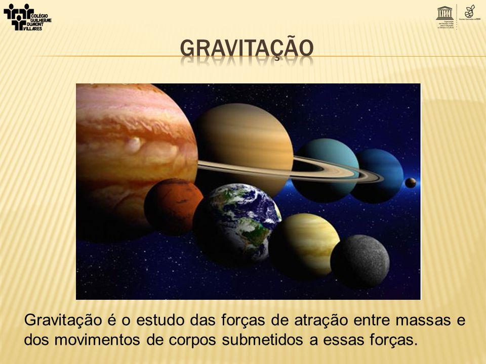 Gravitação Gravitação é o estudo das forças de atração entre massas e dos movimentos de corpos submetidos a essas forças.