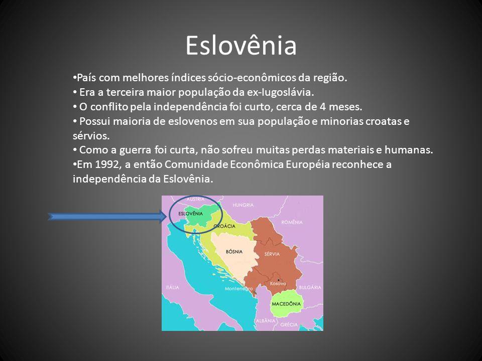 Eslovênia País com melhores índices sócio-econômicos da região.