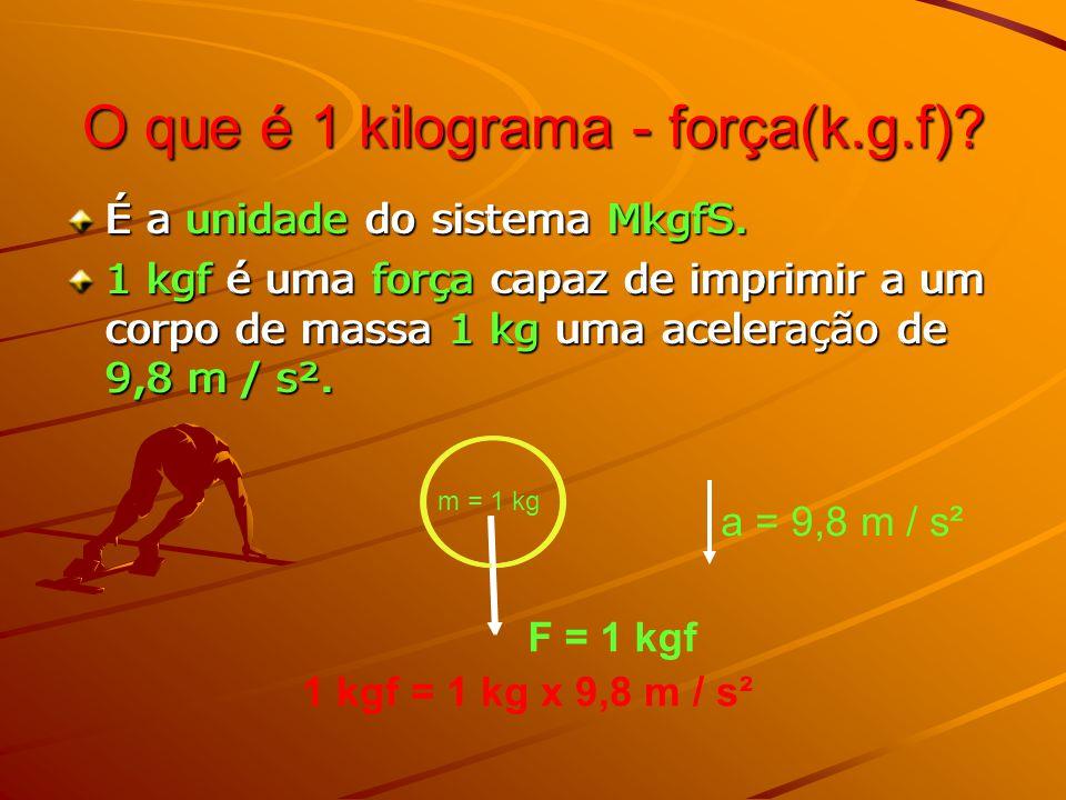 O que é 1 kilograma - força(k.g.f)