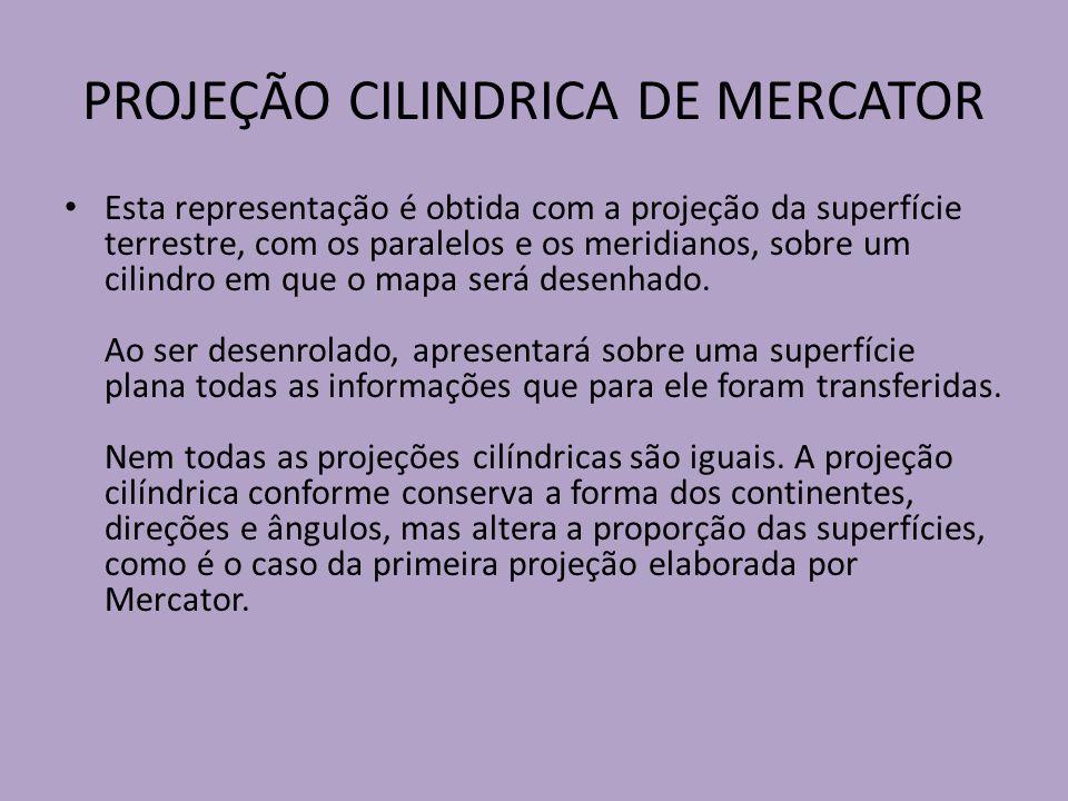 PROJEÇÃO CILINDRICA DE MERCATOR