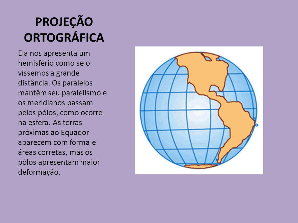PROJEÇÃO ORTOGRÁFICA
