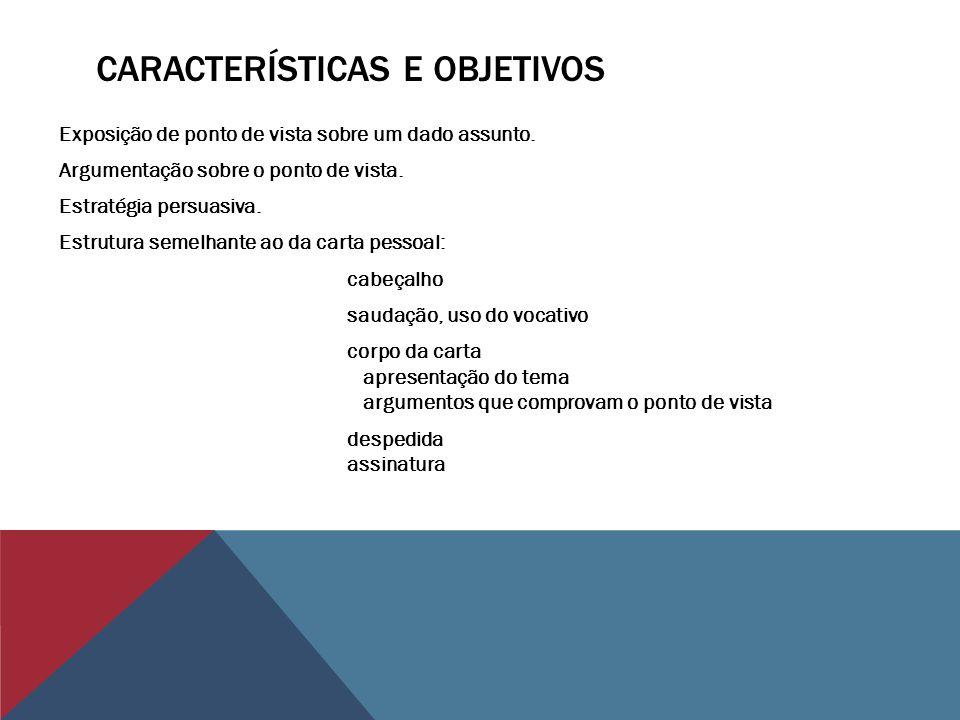 Características e objetivos