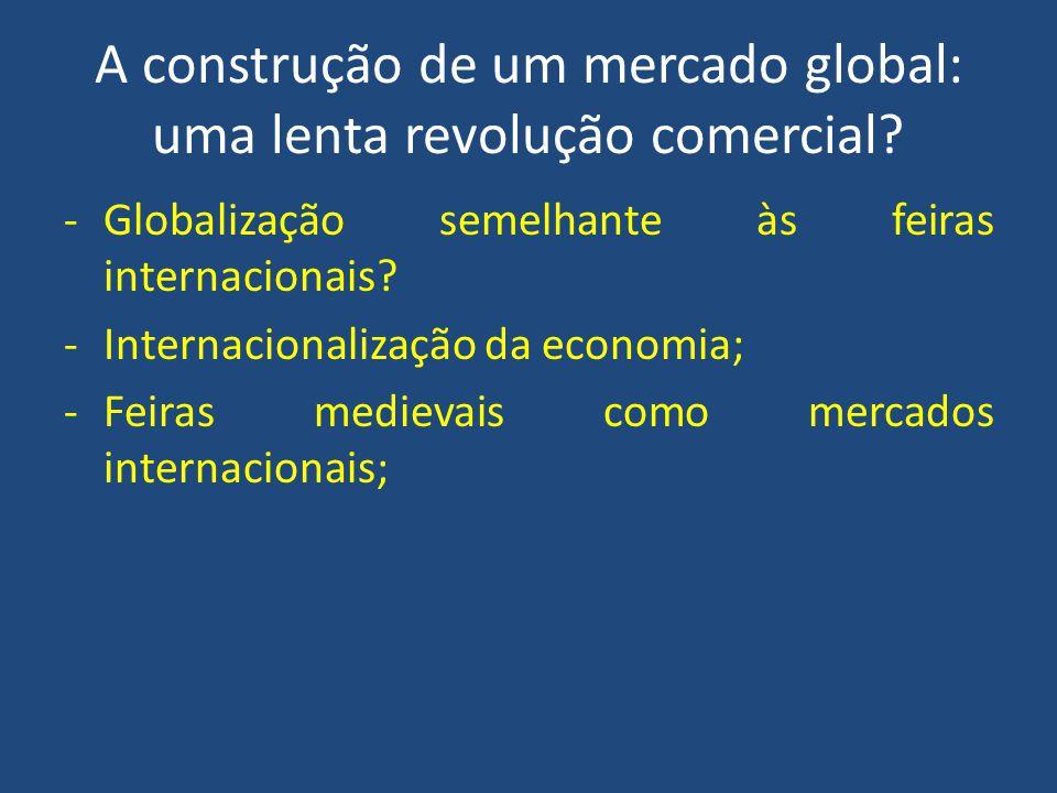A construção de um mercado global: uma lenta revolução comercial
