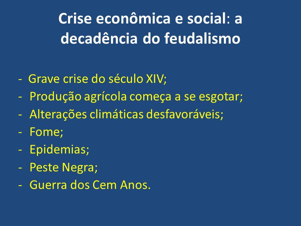 Crise econômica e social: a decadência do feudalismo