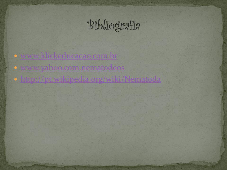 Bibliografia www.klickeducacao.com.br www.yahoo.com.nematodeos