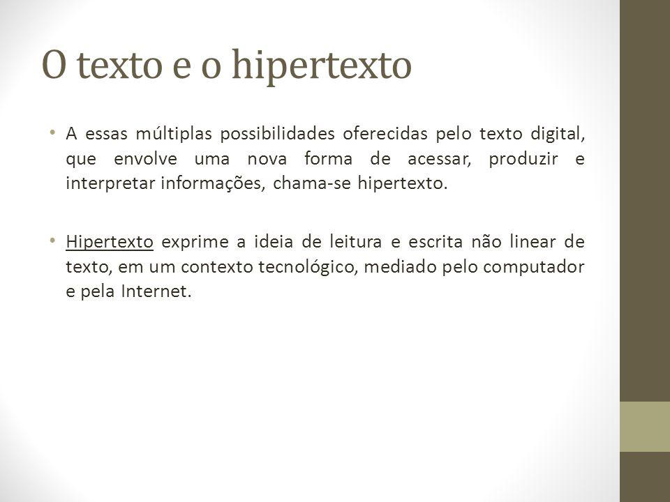 O texto e o hipertexto
