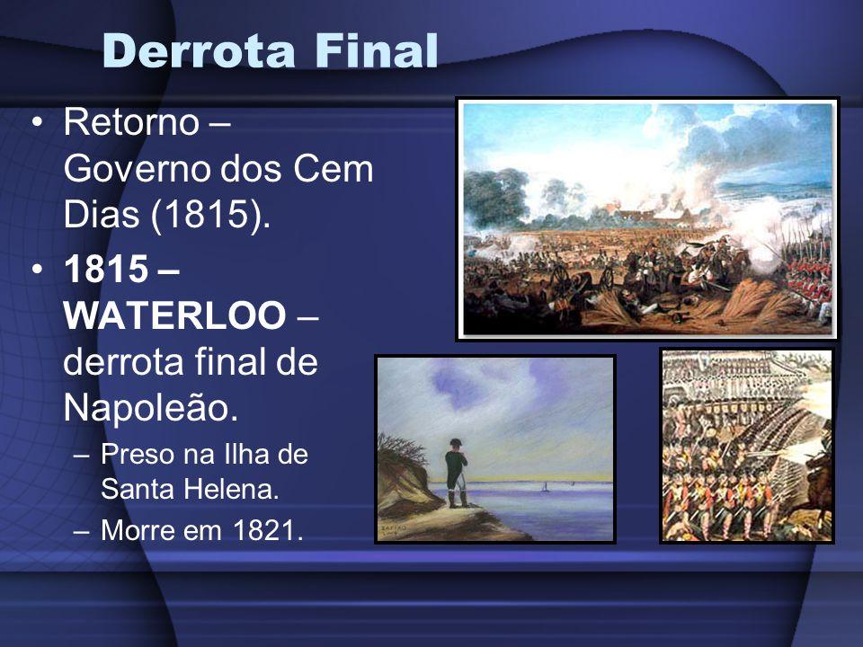 Derrota Final Retorno – Governo dos Cem Dias (1815).