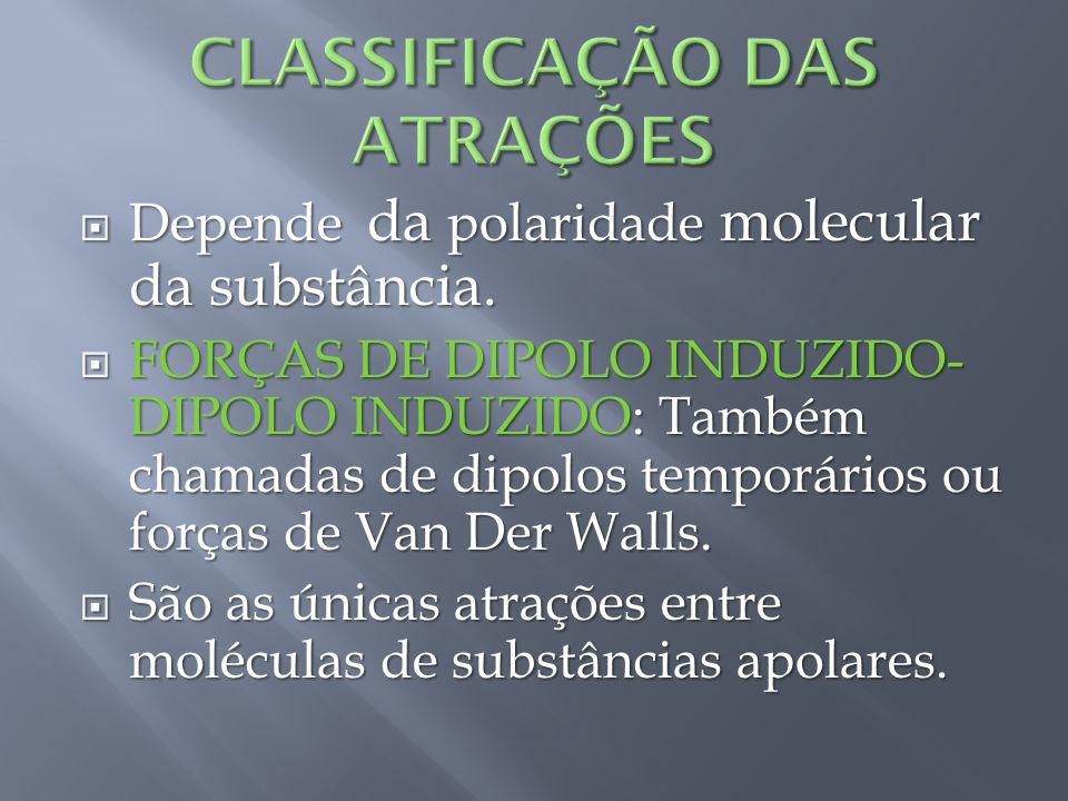 CLASSIFICAÇÃO DAS ATRAÇÕES