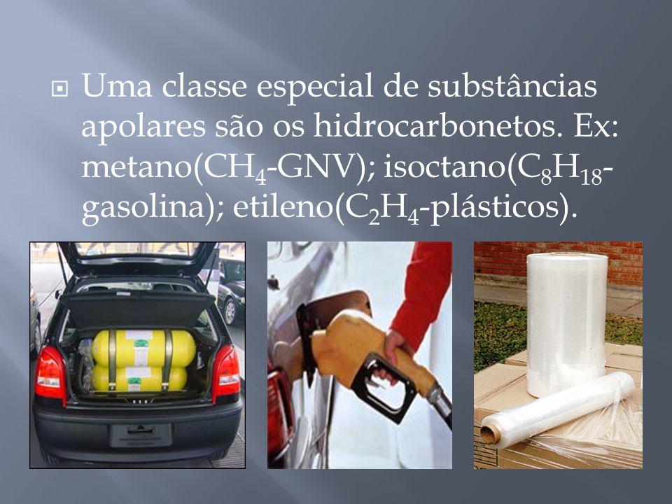 Uma classe especial de substâncias apolares são os hidrocarbonetos