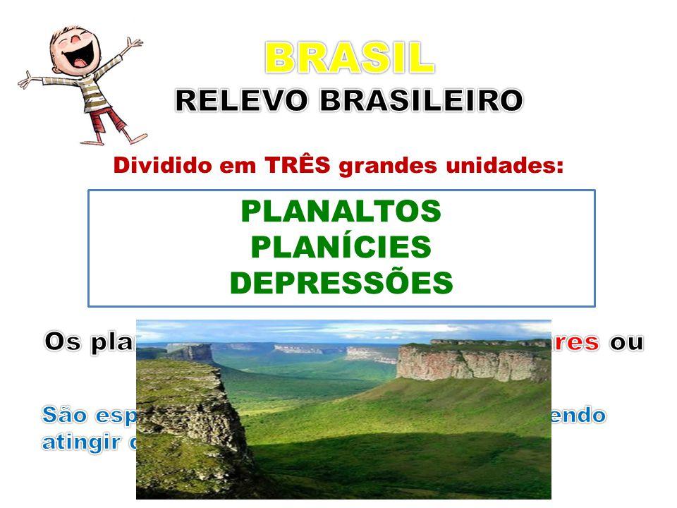 BRASIL RELEVO BRASILEIRO PLANALTOS PLANÍCIES DEPRESSÕES