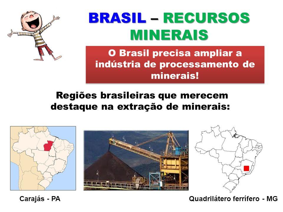 BRASIL – RECURSOS MINERAIS
