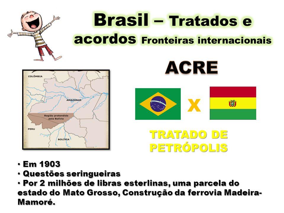 Brasil – Tratados e acordos Fronteiras internacionais