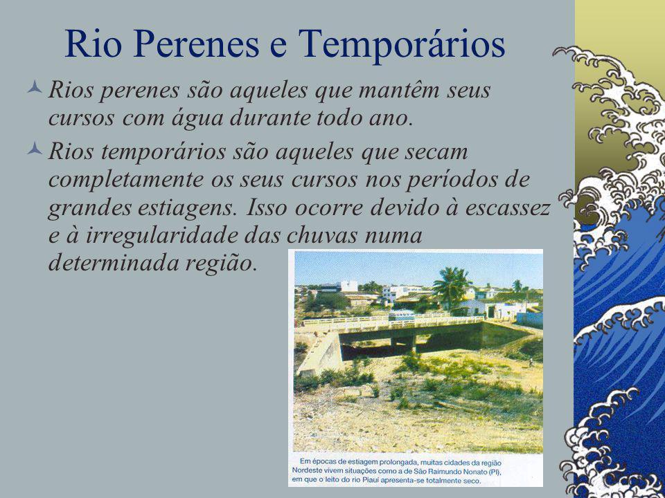 Rio Perenes e Temporários