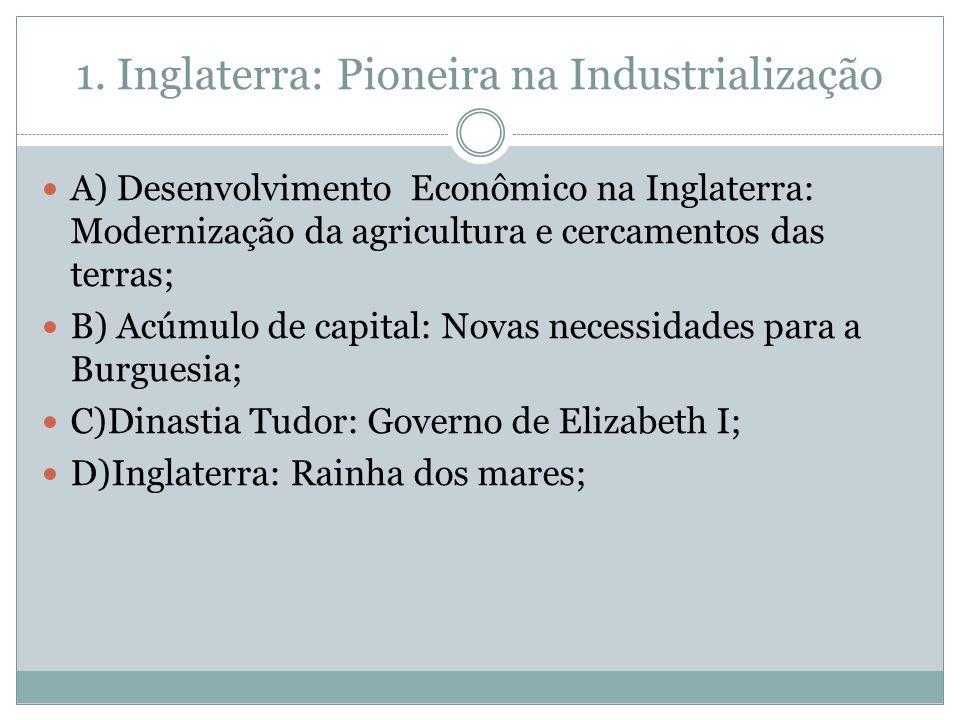 1. Inglaterra: Pioneira na Industrialização
