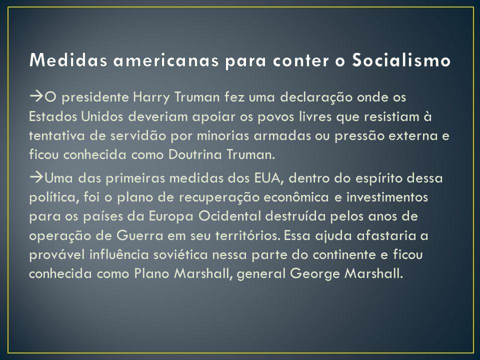 Medidas americanas para conter o Socialismo