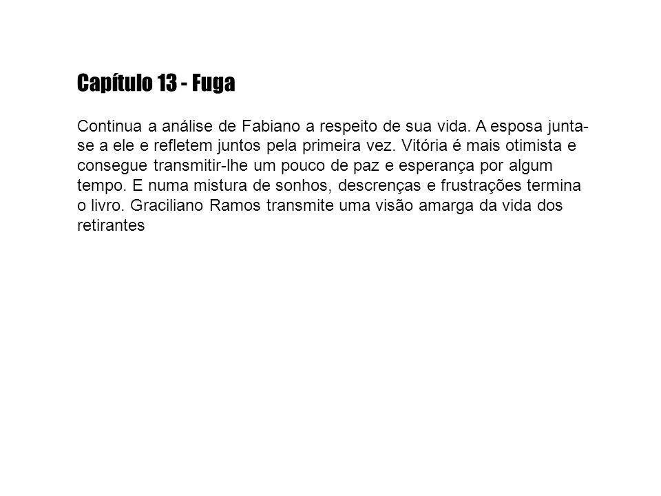 Capítulo 13 - Fuga Continua a análise de Fabiano a respeito de sua vida.
