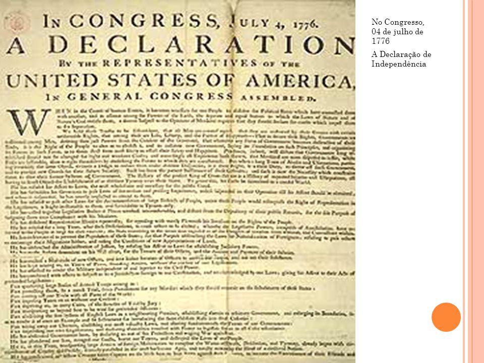 No Congresso, 04 de julho de 1776