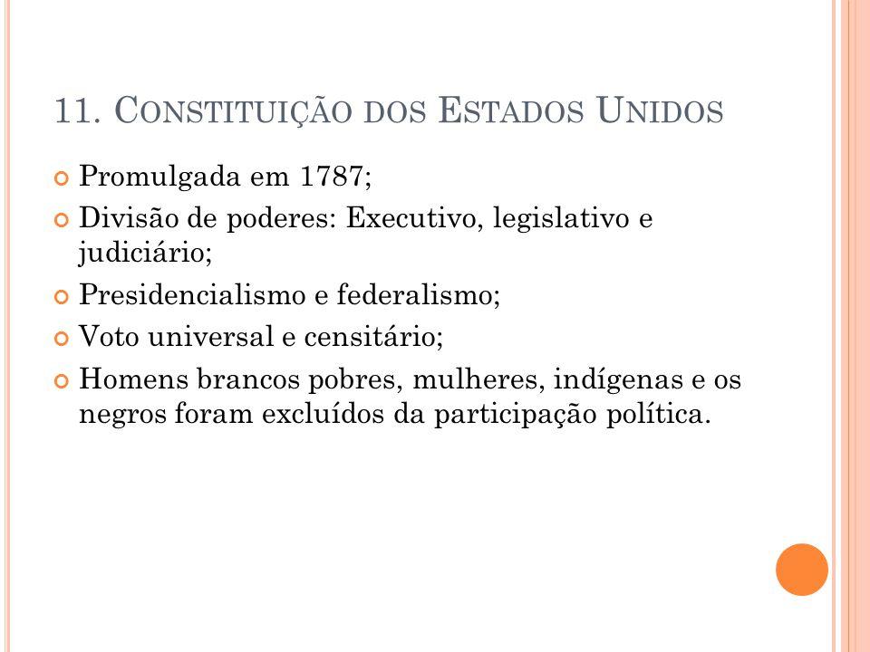 11. Constituição dos Estados Unidos