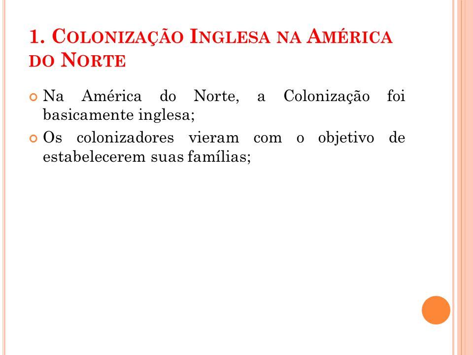 1. Colonização Inglesa na América do Norte