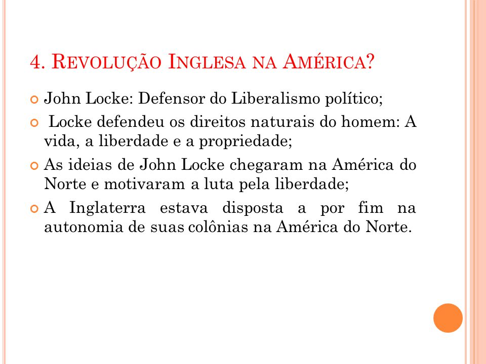 4. Revolução Inglesa na América