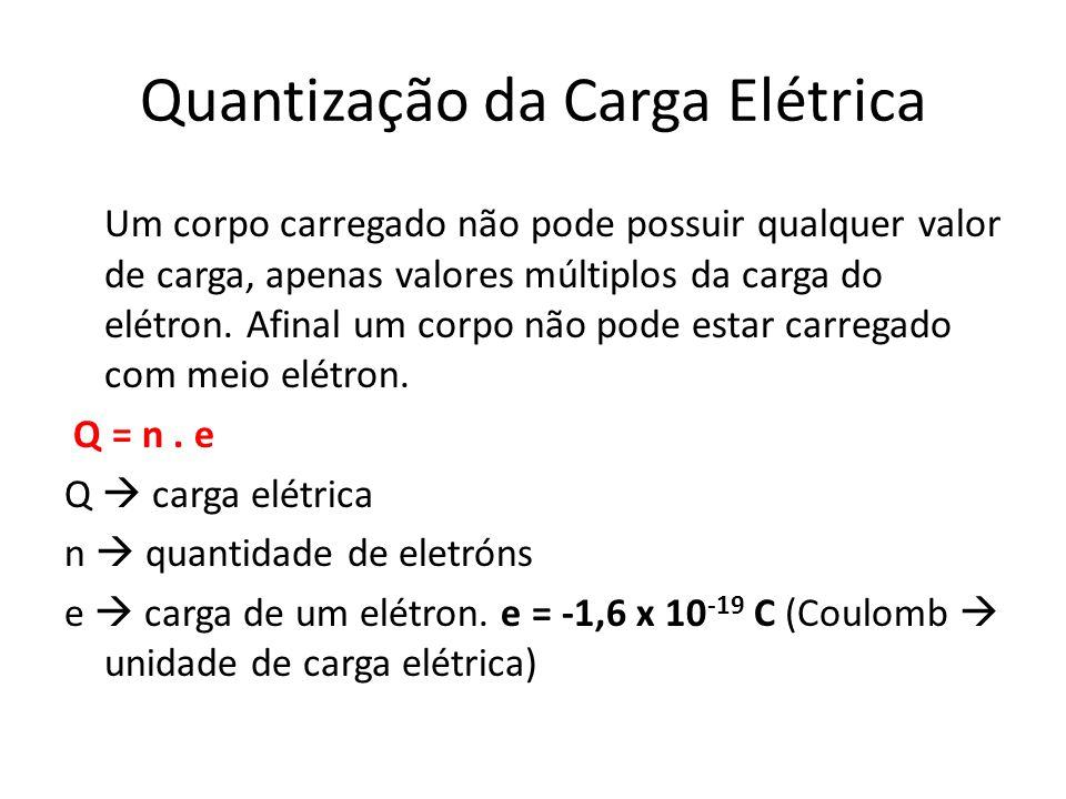 Quantização da Carga Elétrica