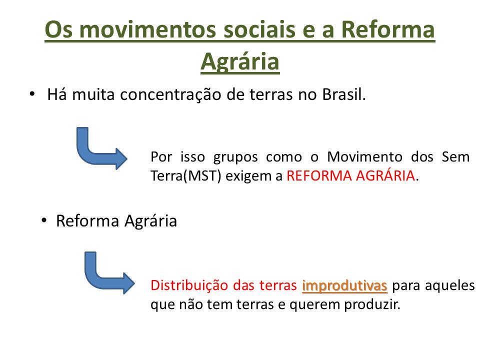 Os movimentos sociais e a Reforma Agrária
