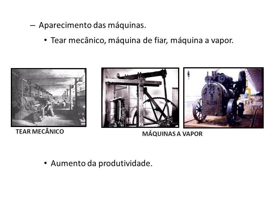 Aparecimento das máquinas.