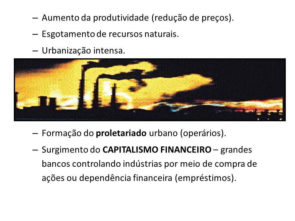 Aumento da produtividade (redução de preços).