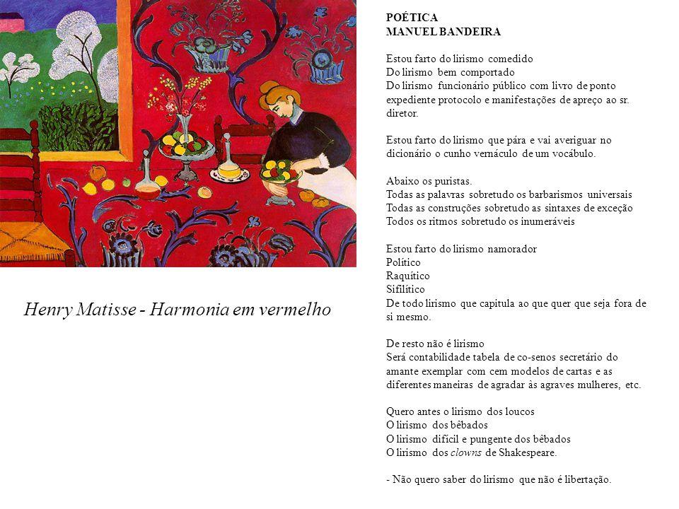 Henry Matisse - Harmonia em vermelho