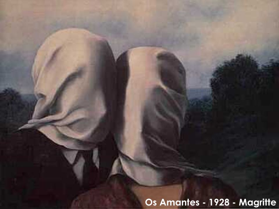 Os Amantes - 1928 - Magritte