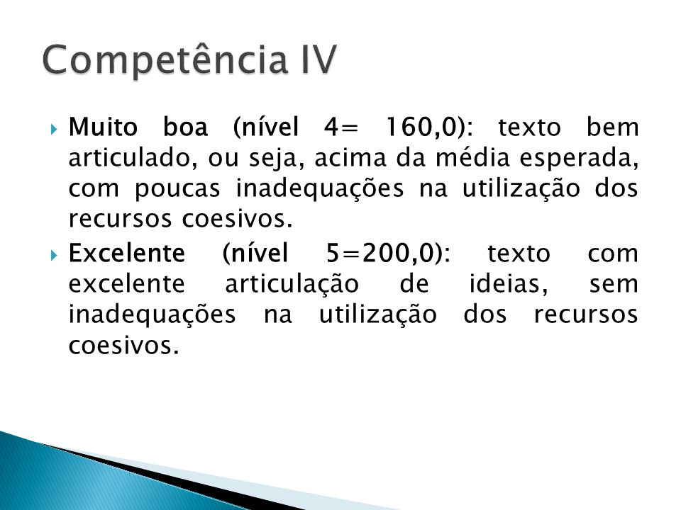 Competência IV