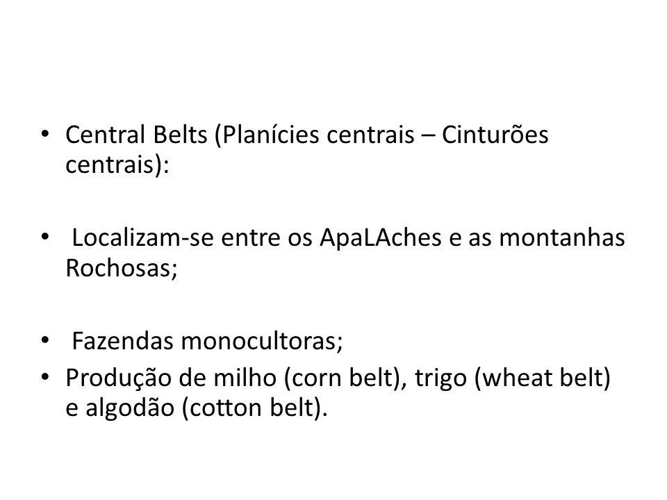 Central Belts (Planícies centrais – Cinturões centrais):