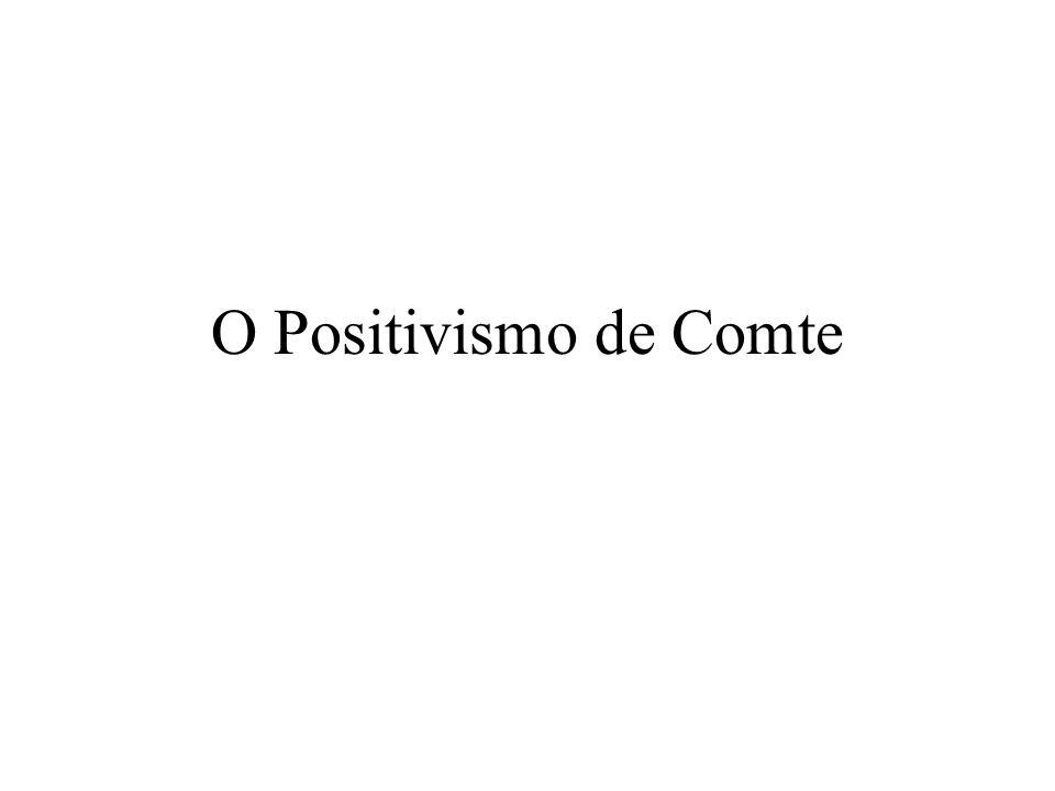 O Positivismo de Comte