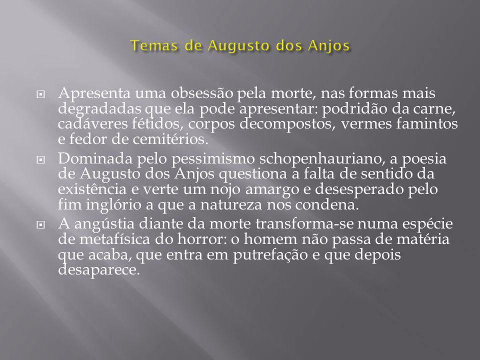 Temas de Augusto dos Anjos