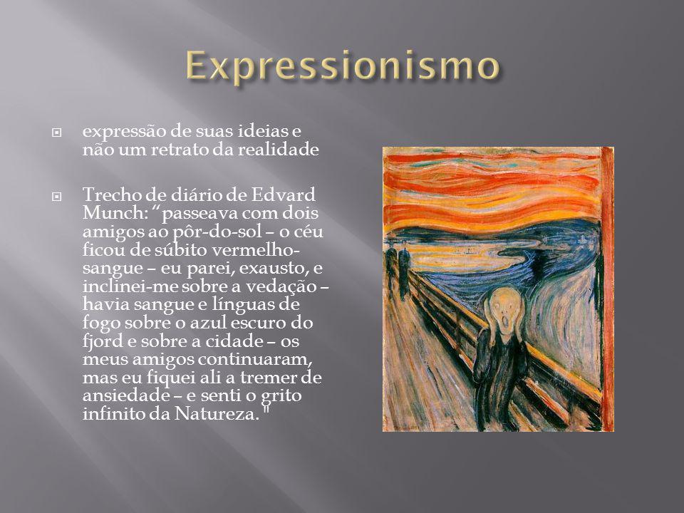 Expressionismo expressão de suas ideias e não um retrato da realidade