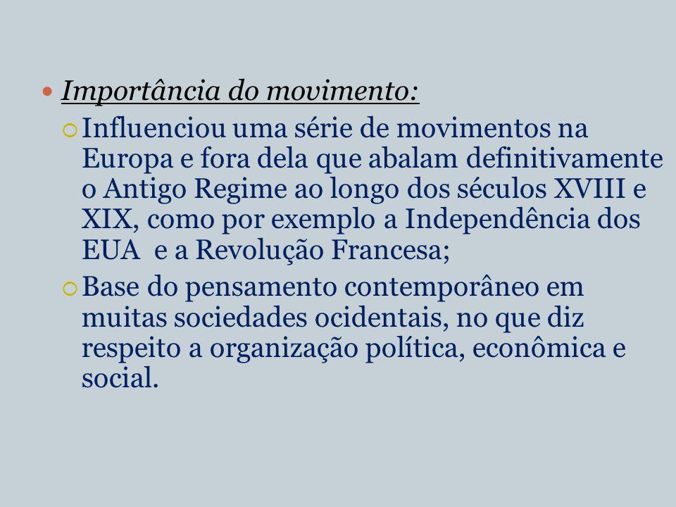 Importância do movimento: