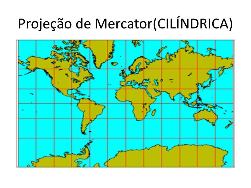Projeção de Mercator(CILÍNDRICA)