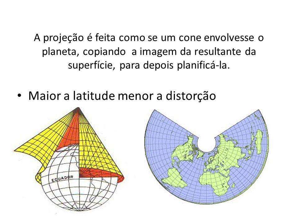 Maior a latitude menor a distorção