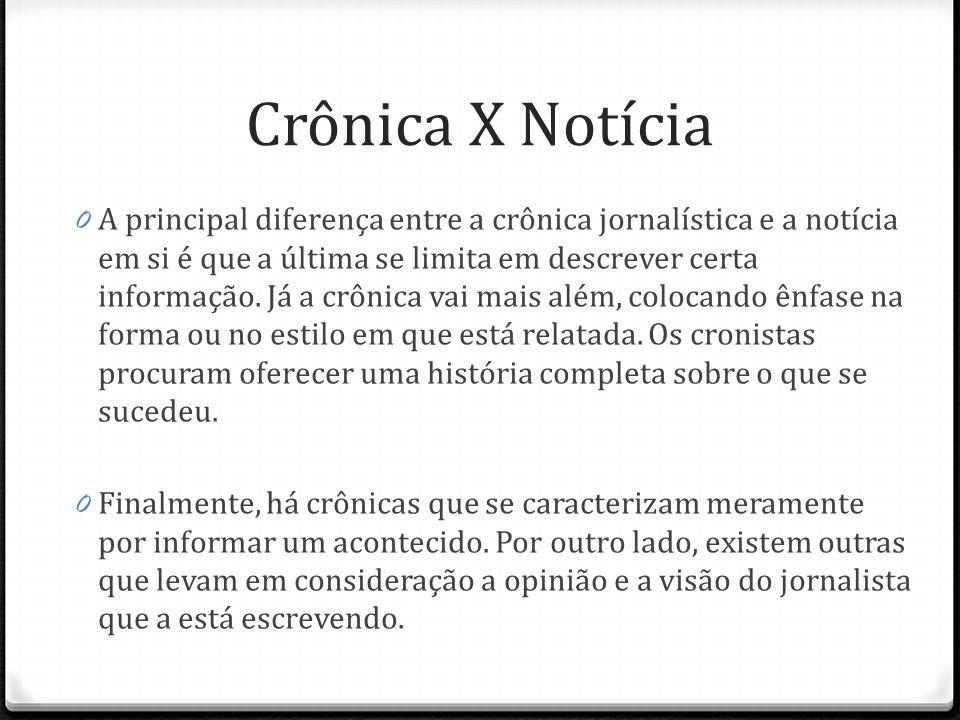 Crônica X Notícia
